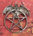 Celtic Bat Pentacle Jewelry Pendant