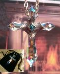 Camelot Cross Swarovski Crystal Necklace