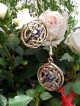 Celtic Happiness Knot Earrings - Swarovski Crystal