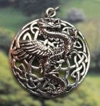 Celtic Knot Wizards Dragon Celtic Jewelry Pendant