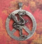 Celtic Large Peace Dragon Jewelry Pendant