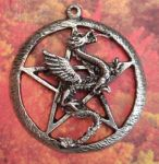 Celtic Large Pentacle Dragon Jewelry Pendant