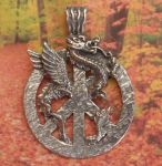 Celtic Small Peace Dragon Jewelry Pendant