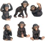 Chimpanzee Figurines (Set of 6)