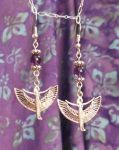 Egyptian Amethyst Isis Earrings