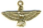 Egyptian Art Deco Kneeling Isis Pendant