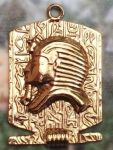 Embossed Egyptian King Tut Pendant