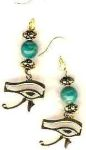 Eye Of Horus Egyptian Earrings