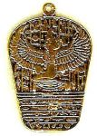 Egyptian Goddess Isis And Hieroglyphs Pendant