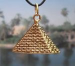 Egyptian Pyramid Of Cheops Pendant - Medium