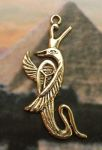 Royal Egyptian Cobra With Crown Pendant
