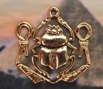Egyptian Scarab With Knots Of Isis Pendant