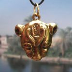 Small Egyptian Lion Goddess Sekhmet Head Pendant