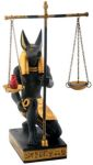 Ancient Egyptian Anubis Scales Of Justice Statue