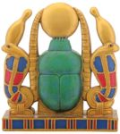 Ancient Egyptian Cobra Sun Scarab Statue