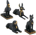 Ancient Egyptian Animals (set Of 4) Statue