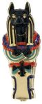 Ancient Egypt Anubis Coffin Enameled Jewelry Box