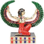 Ancient Egyptian Goddess Of Truth Maat Jeweled Box