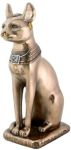 Large Bronze Finish Bastet With Horus Colar