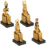 Ancient Egyptian Seated Gods Statues (set Of 4)
