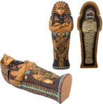 Small King Tut Coffin With Mummy Statue