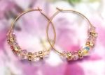 Aurora Borealis Crystal Hoop Earrings