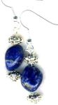 Handmade Jewelry -  Lapis Nugget Handmade Earrings