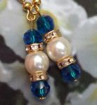Mediterranean Blue Crystal Wedding Earrings