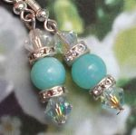 Peruvian Blue Opal Gemstone Earrings