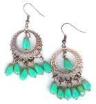 Picasso Turquoise Glass Handmade Earrings