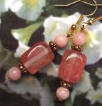 Pink Heaven Opal And Quartz Gemstone Earrings