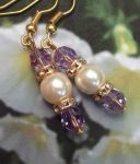 Tanzanite And Pearl Wedding Earrings