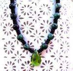 Handmade Jewelry Earth Heart  Gemstone Necklace