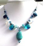 Handmade Jewelry Sky Waters Gemstone Necklace
