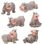 Hippo Statues (Set of 6)