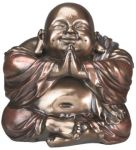 Hotei Happy Buddha Statue - Bronze Finish