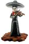 Mariachi Band Female Black Skeleton Violin Player
