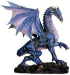 Medium Midnight Dragon Figurine Statue