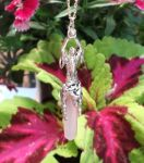 Moon Goddess Pendant With Crystal Point