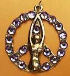 Peace Goddess Venus With Crystals Necklace