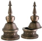 Round Stupa Box - Bronze Finish