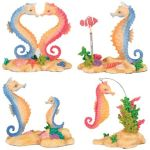 Sea Horse Statues (Set Of 4 )