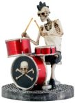 Skeleton Rock Band - Drummer Statue