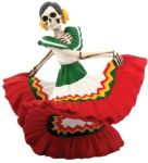 Day Of The Dead Dancing Red Senorita Statue