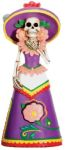Day Of The Dead Purple Senorita Skeleton Statue