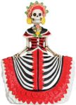 Day Of The Dead Red Senorita Skeleton Statue