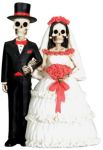 Day Of The Dead Wedding Couple Skeleton Statue