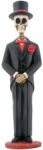 Day Of The Dead Large Groom Skeleton Statue