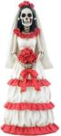 Day Of The Dead Red And White Bride Statue