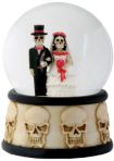 Day Of The Dead Skeleton Wedding Couple Waterglobe
